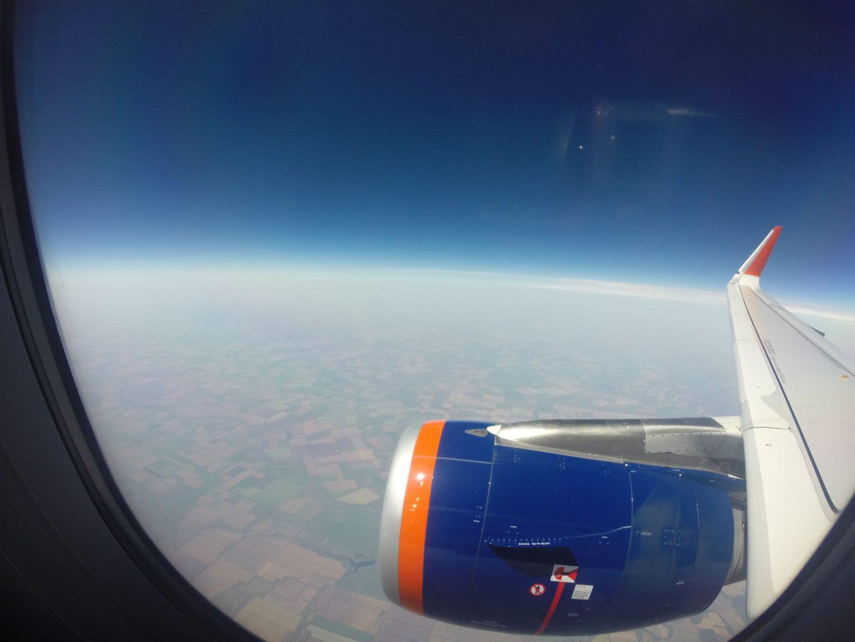 Expedice Kavkaz - výhled z letadla
