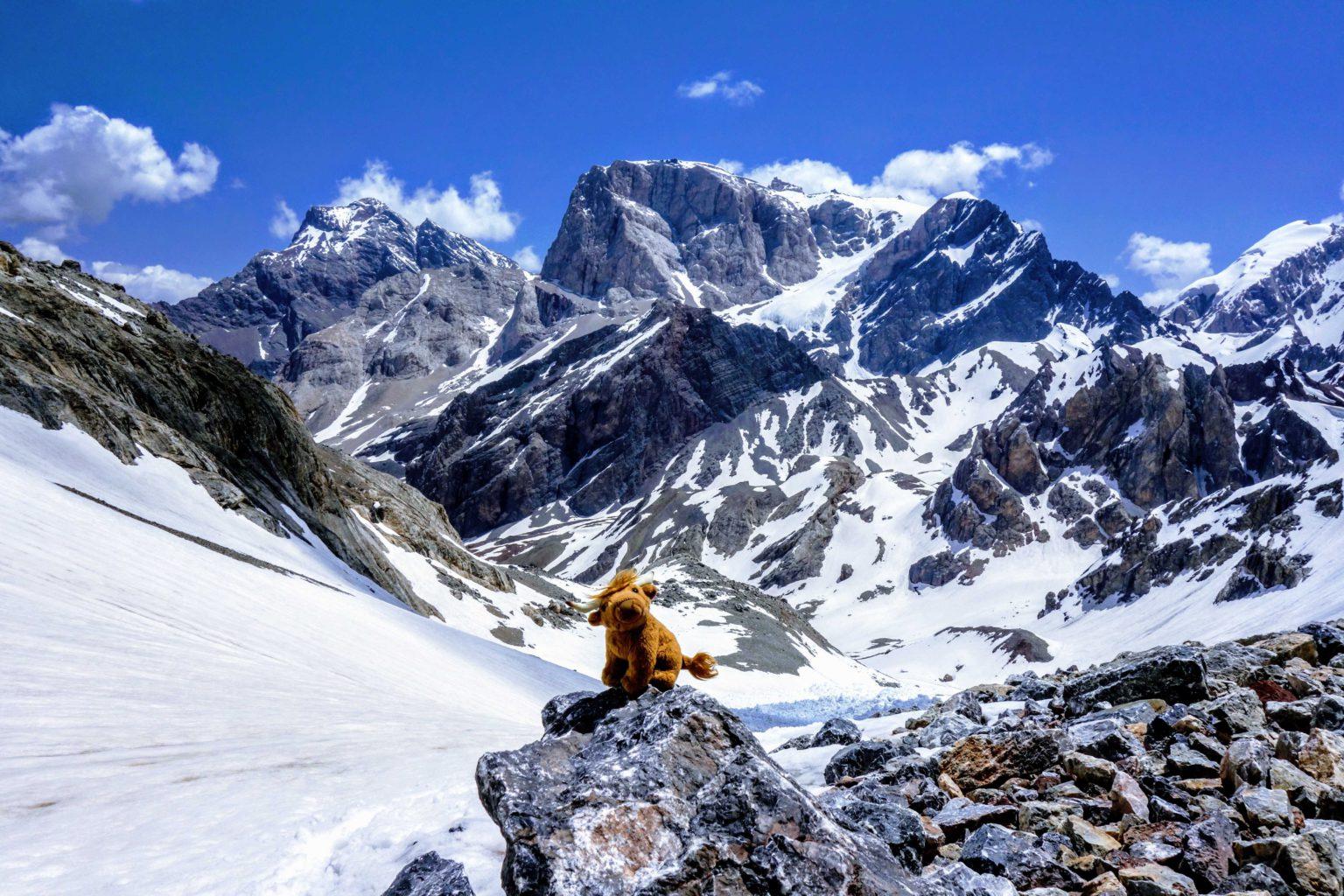 V zasněšených horách