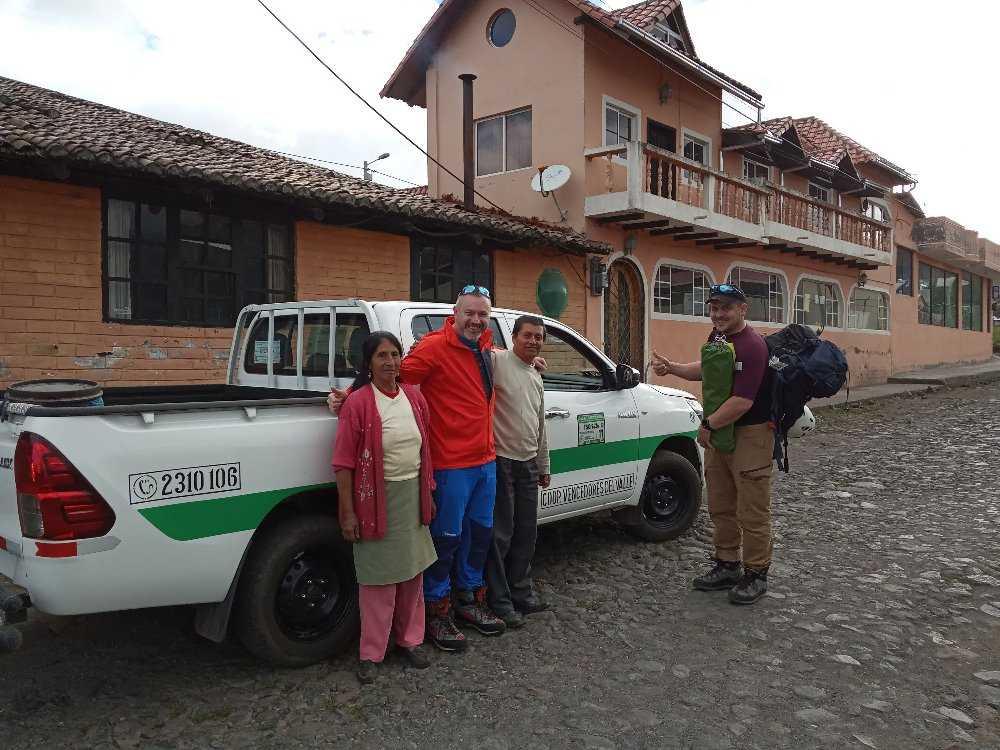 Příjezd do El Chaupi