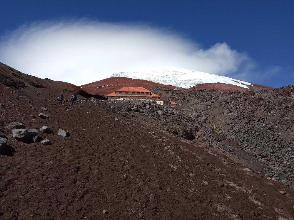Pohled na Refugio Jose F.Ribas