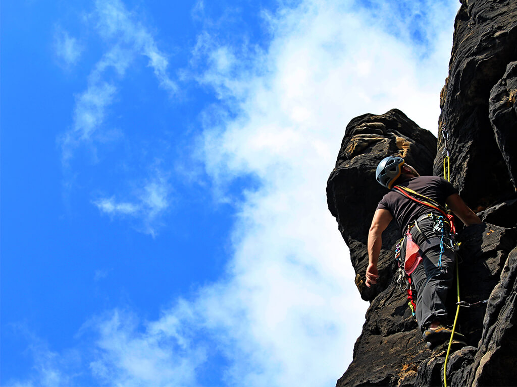 Kurz lezení na pískovcových skalách