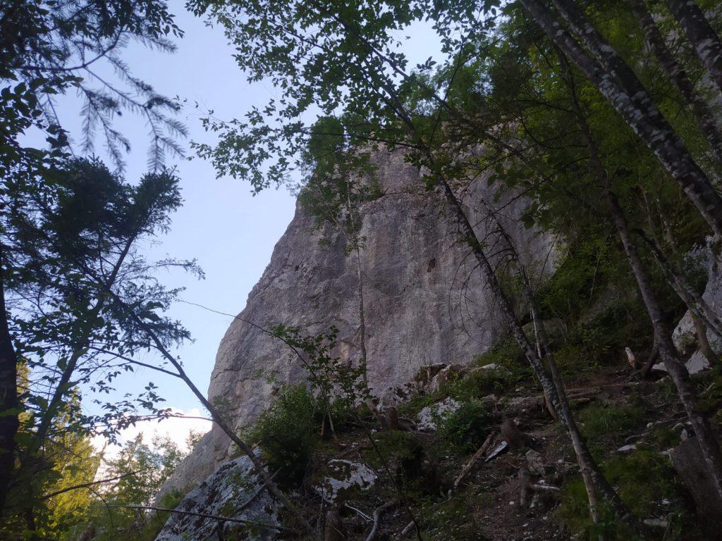 Lezení ve Slovinsku - skalní oblast Bellevue