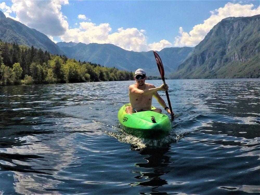 Bohinjské jezero ve Slovinsku.