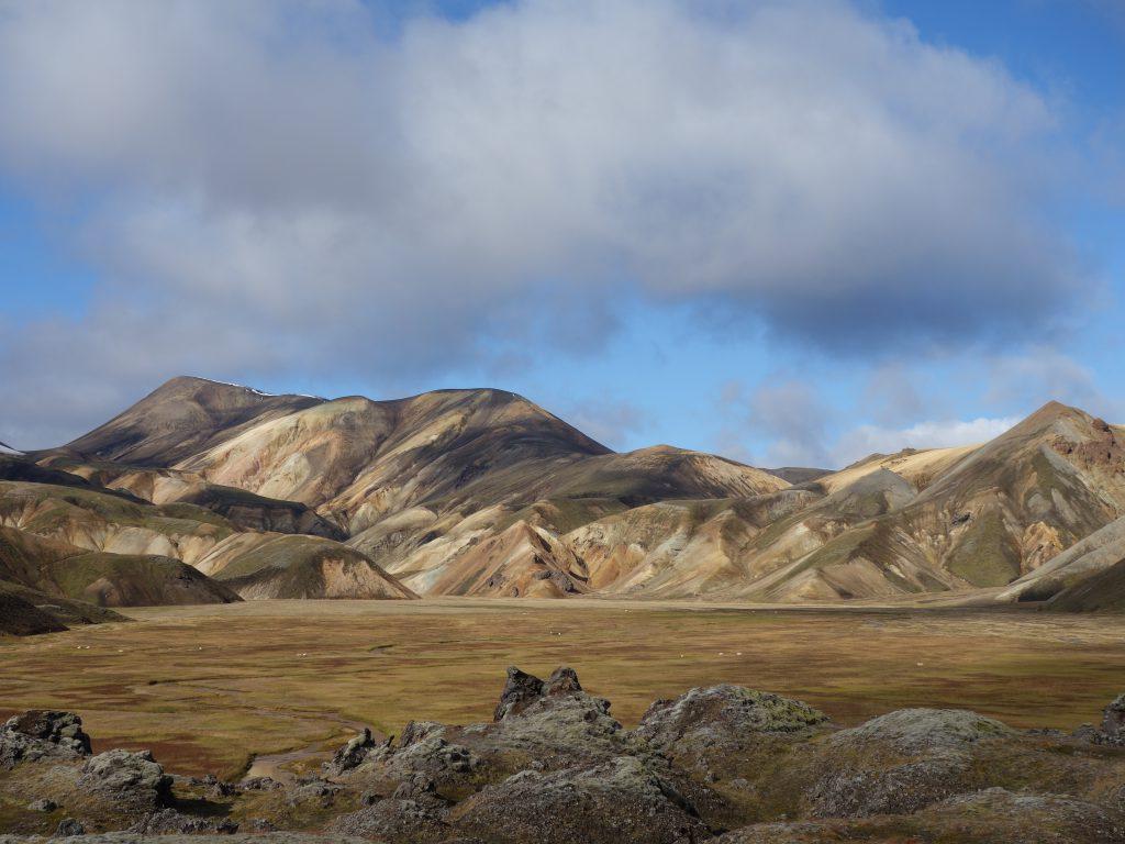 Přechod hor na Islandu.