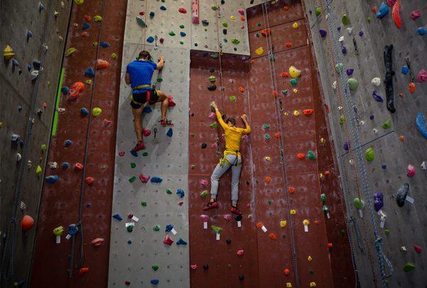 technika lezení na umělé stěně